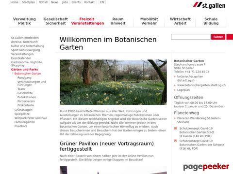 Botanischen Garten St.Gallen