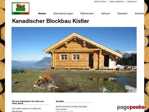 kistler-zimmerei.ch - Kanadischer Blockbau