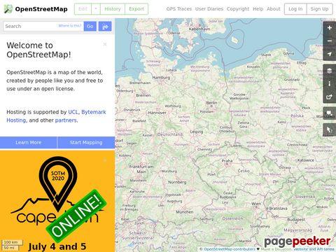 OpenStreetMap.org - open source Weltkarte