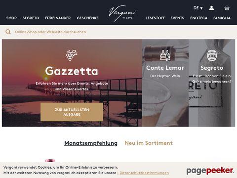 Vergani.ch - Wein aus Italien online bestellen im Weinversand