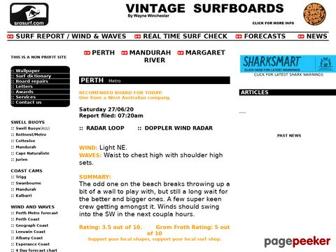 Surf Report Margaret River, Mandurah, Perth