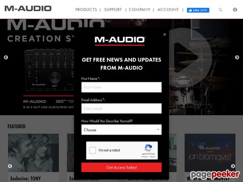 M-Audio - a leading provider of digital audio and MIDI solutions for todays electronic musicians and audio professionals