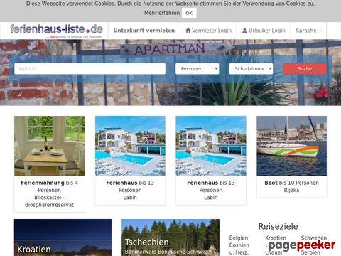 Ferienhäuser und Ferienwohnungen direkt vom Vermieter