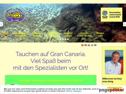 Tauchen auf Gran Canaria – Davy Jones Diving, PADI 5-Star Tauchbasis