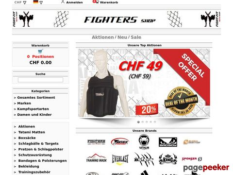 x-fighters.ch - FIGHTERS Shop