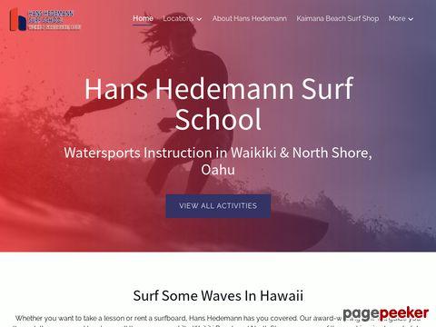 Hans Hedemann Surf School of Oahu - Hawaii