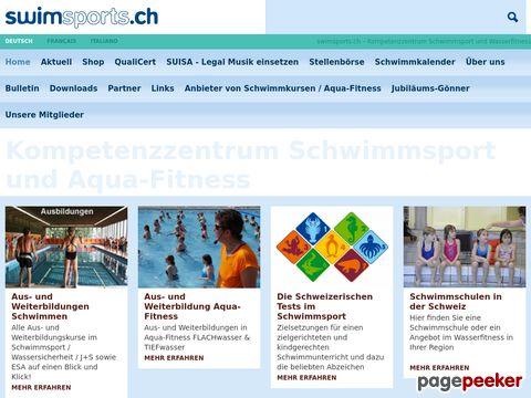 swimsports.ch Homepage