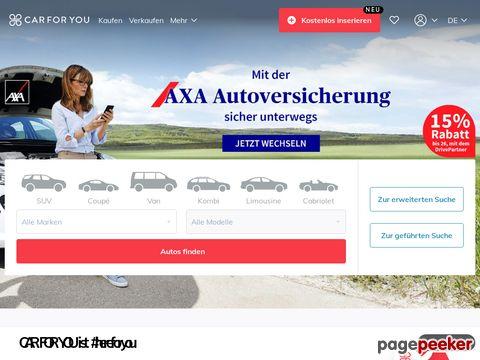 car4you.ch - Automobile, Fahrzeuge oder Neuwagen kaufen/verkaufen