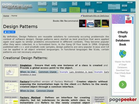 oodesign.com - Object Oriented Design - Design Patterns