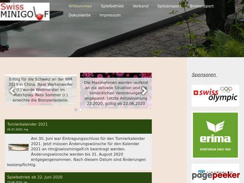minigolf.ch - inoffizielle Verbanshomepage des Schweizerischen Minigolf-Sportverbandes (SMSV)