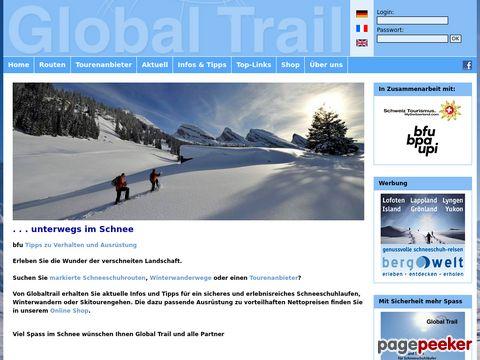 globaltrail.ch - Schneeschuh-Routen Schweiz