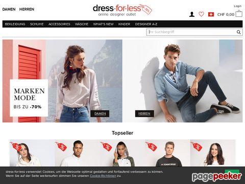 dress-for-less.ch - Designer Kleidung bis -70% günstiger kaufen!