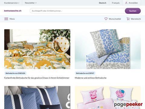 Bettwäsche online kaufen auf bettwaesche.ch