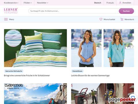 lehner-versand.ch - Bettwäsche und Bettwaren günstig bei Lehner Versand bestellen