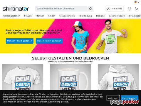 shirtinator.de - Tolle T-Shirts bedrucken mit dem T Shirt Creator