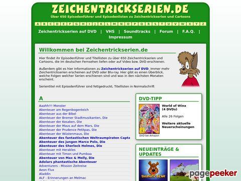 Zeichentrickserien.de - Zeichentrickserien im Überblick