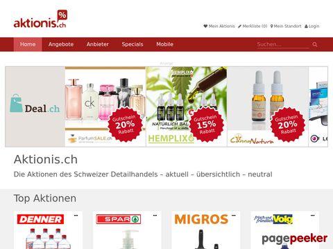 aktionis.ch - intelligent Aktionen einkaufen