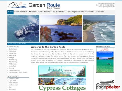 gardenroute.co.za - Garden Route South Africa Guide