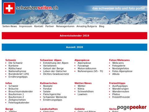 schweizerseiten.ch - Info Foto- und Linkpool der Schweiz Kantone