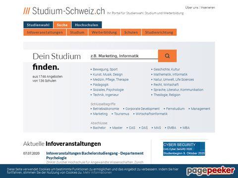 Studium-Schweiz.ch - finden Sie Ihren Studiengang!