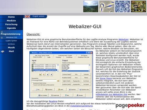 Webalizer GUI - kostenloses Logfile-Analyse-Programm für Windows + Linux