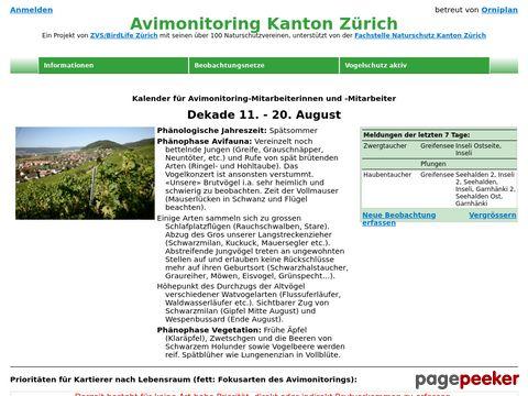 avimonitoring.ch - Zürcher Brutvogelatlas 2008