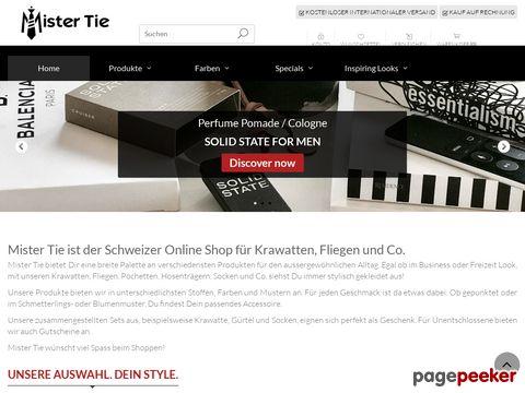 mistertie.ch - Mister Tie - Onlineshop für Herrenaccessoires