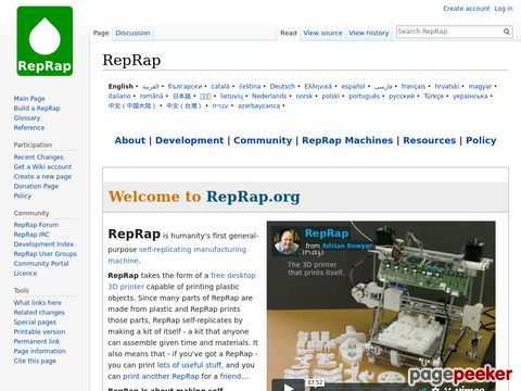 reprap.org - RepRap - Replicating Rapid-prototyper - 3D-Drucker!
