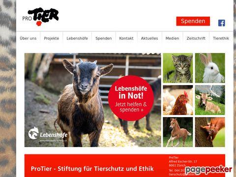 protier.ch - Schweizerische Gesellschaft für Tierschutz: Pro Tier