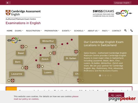 cambridge-exams.ch - Cambridge Exams, Authorised Centre - Switzerland