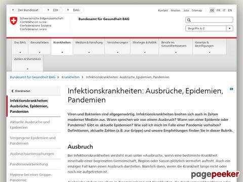 Bundesamt für Gesundheit - Grippepandemie
