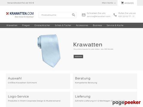 krawatten.com - Krawatten für Beruf und Party