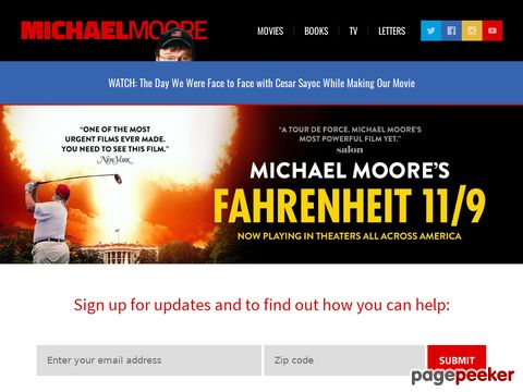 MichaelMoore.com - Get Alternative News
