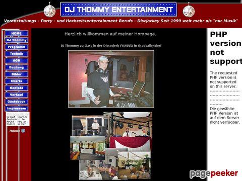 DJ Thommys mobile Disco im Westerwald und Rhein-Main Gebiet