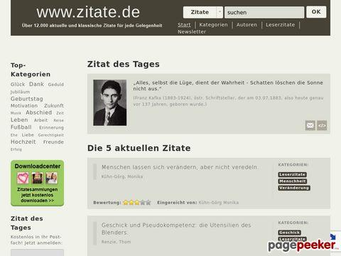 zitate.de - kostenlose Zitate-Datenbank