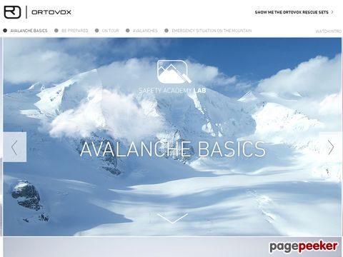 Avalanche Basics – ORTOVOX SAFETY ACADEMY LAB: The home of avalanche knowledge.