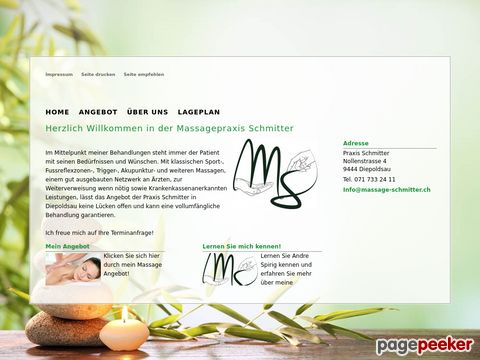 massage-schmitter.ch - Trigger, Akupunktur (CH-9444 Diepoldsau)