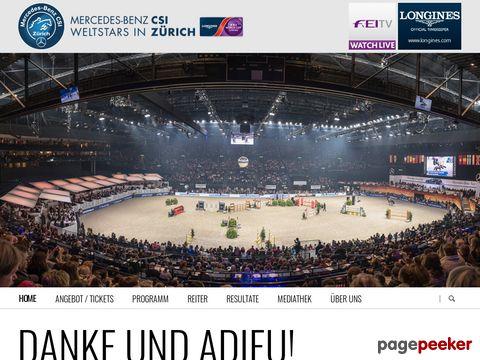 Mercedes-CSI - Weltklasse-Springreiten im Zürcher Hallenstadion