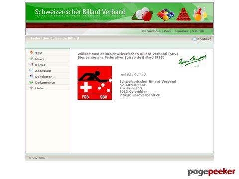billardverband.ch - Schweizerischer Billard Verband