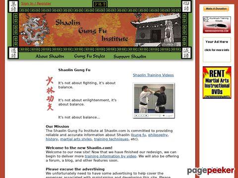 Shaolin Gung Fu (kung fu) Institute @ shaolin.com