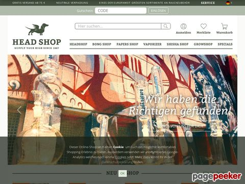 head-shop.de - Onlineshop mit riesem Sortiment