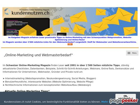 Online-Magazin zum Thema Kundennutzen für Websites