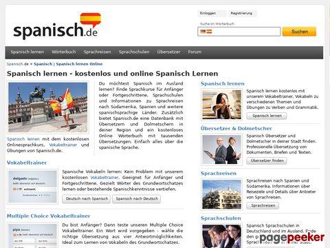 Spanisch - Spanisch lernen, Vokabeltrainer und Wörterbuch