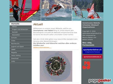 windsurf.ch - Webauftritt der Schweizer Windsurfverbände