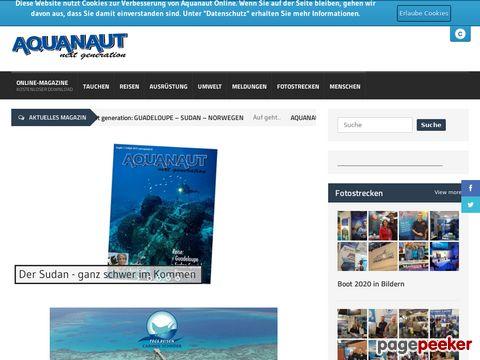 Aquanaut - Die Tauchzeitschrift - Das Neuste und infos rund um den Tauchsport