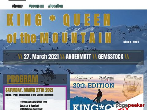 kingofthemountain.ch - KING OF THE MOUNTAIN - Andermatt - Schweiz