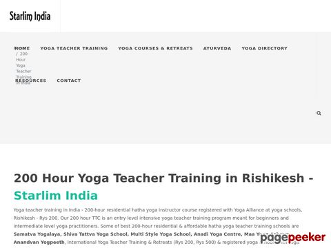Yoga Teacher Training in Indien