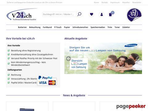 V24.ch – Clever online einkaufen