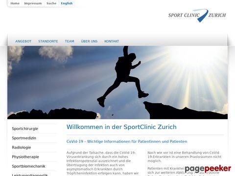 SportClinic Zürich - Sportphysiotherapie