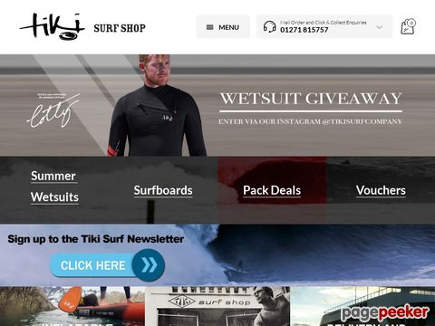 tikisurf.co.uk - Surfboards - Wetsuits - Surf Hardware - SUPs - Bodyboards